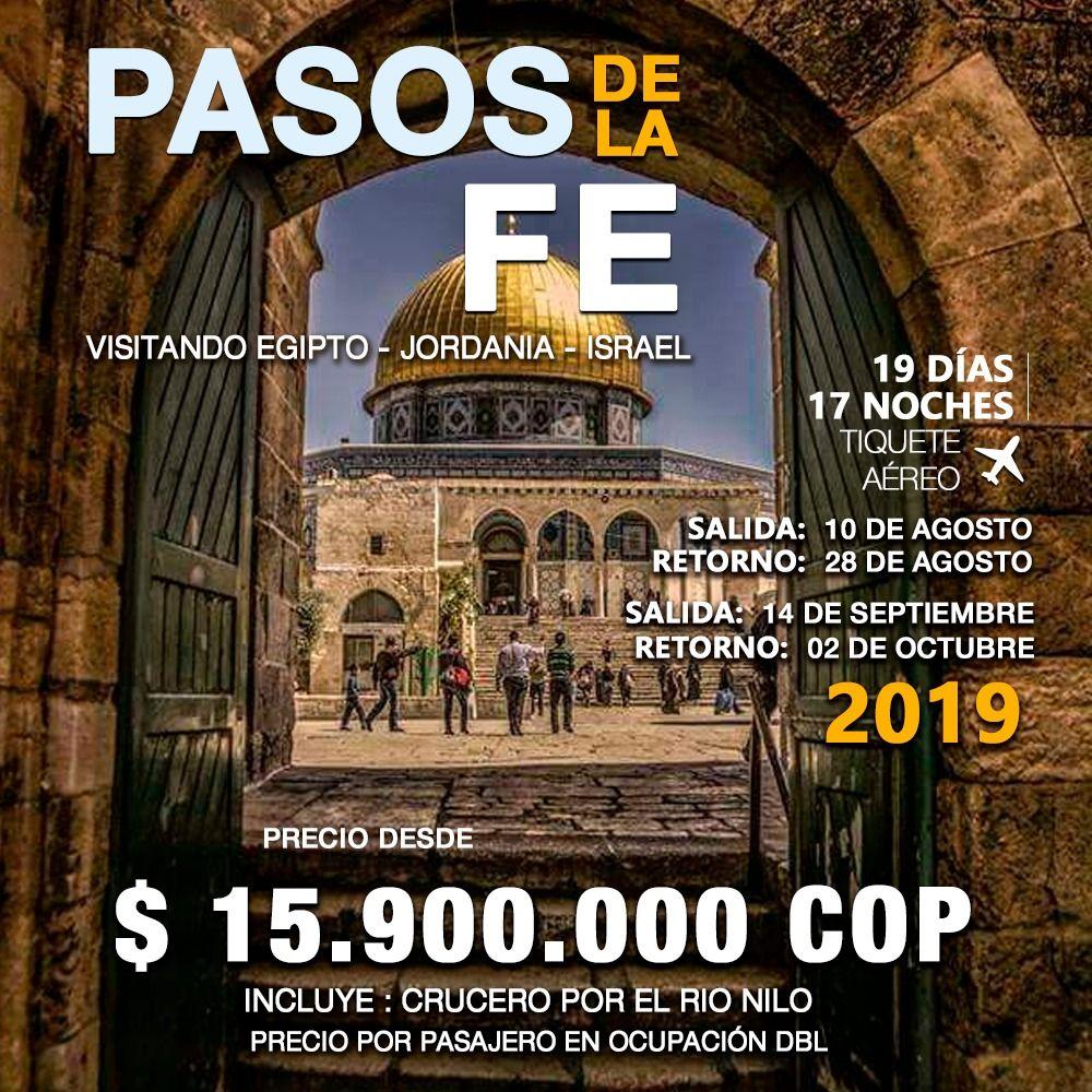 PASOS DE LA FÉ – INCLUYE TIQUETE AÉREO