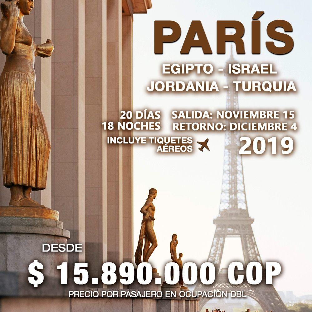 PARIS,EGIPTO,ISRAEL, JORDANIA Y TURQUIA