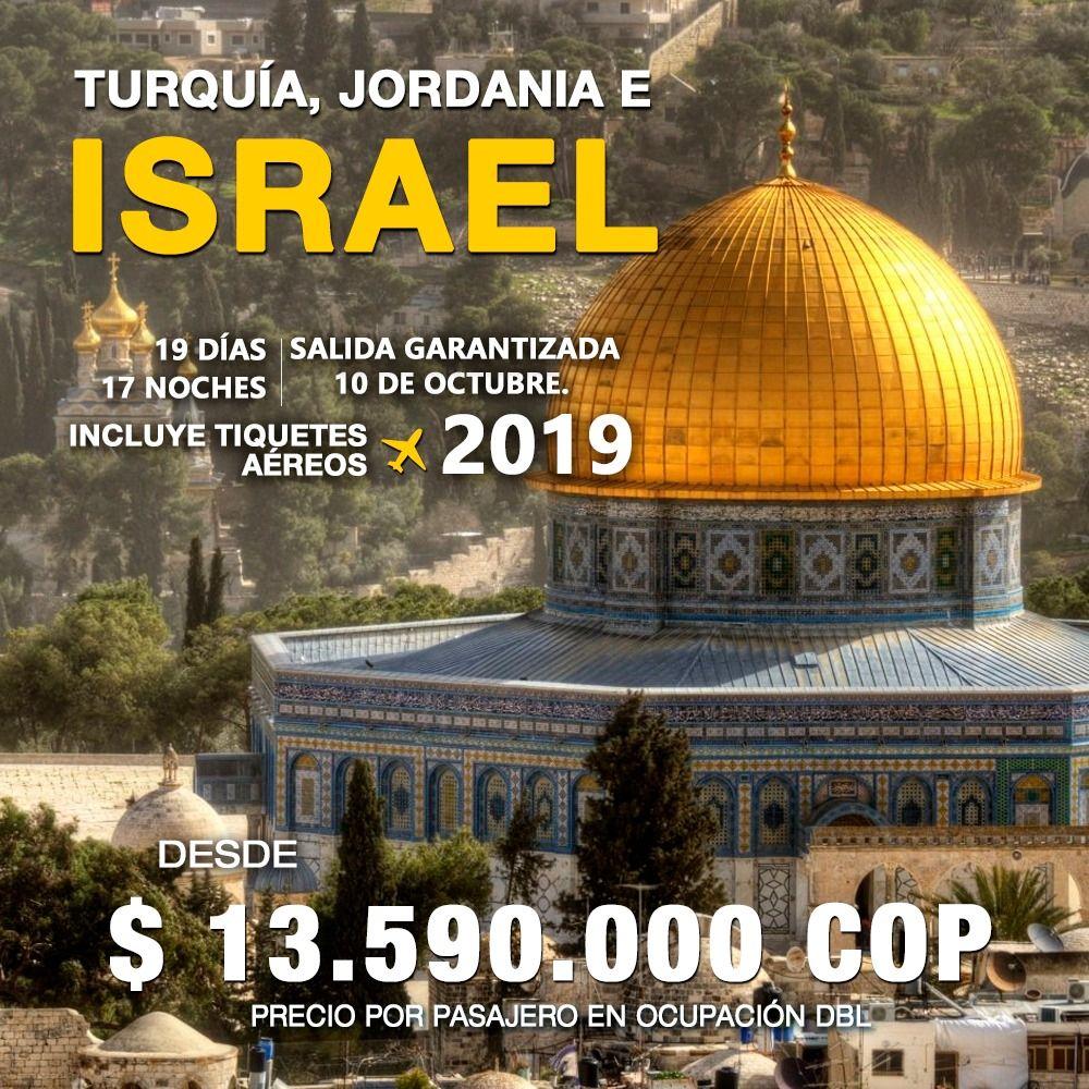 TURQUIA JORDANIA E ISRAEL – INCLUYE TIQUETE AÉREO